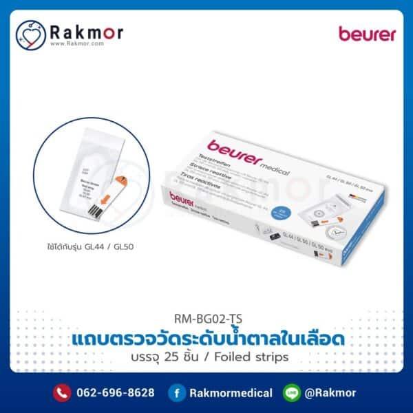 แถบตรวจวัดระดับน้ำตาลในเลือด Beurer 25 ชิ้น